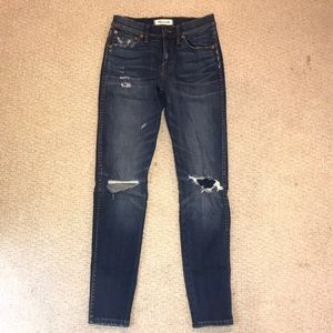 Madewell denim ripped jeans